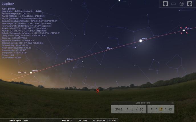 Mercure, Venus, Mars, Jupiter et Saturne vont s'aligner !