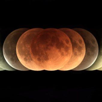 Vendredi une éclipse lunaire va colorer la lune en rouge